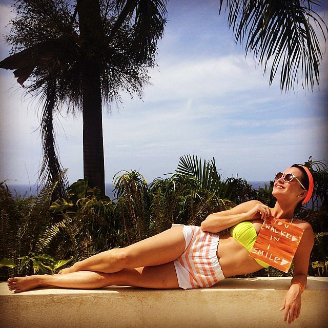 Katy Perry relaxed in her bikini on vacation. Source: Instagram user katyperry