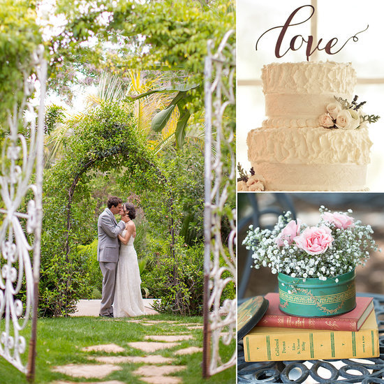 Ashlee and Mike's Bookish Garden Wedding