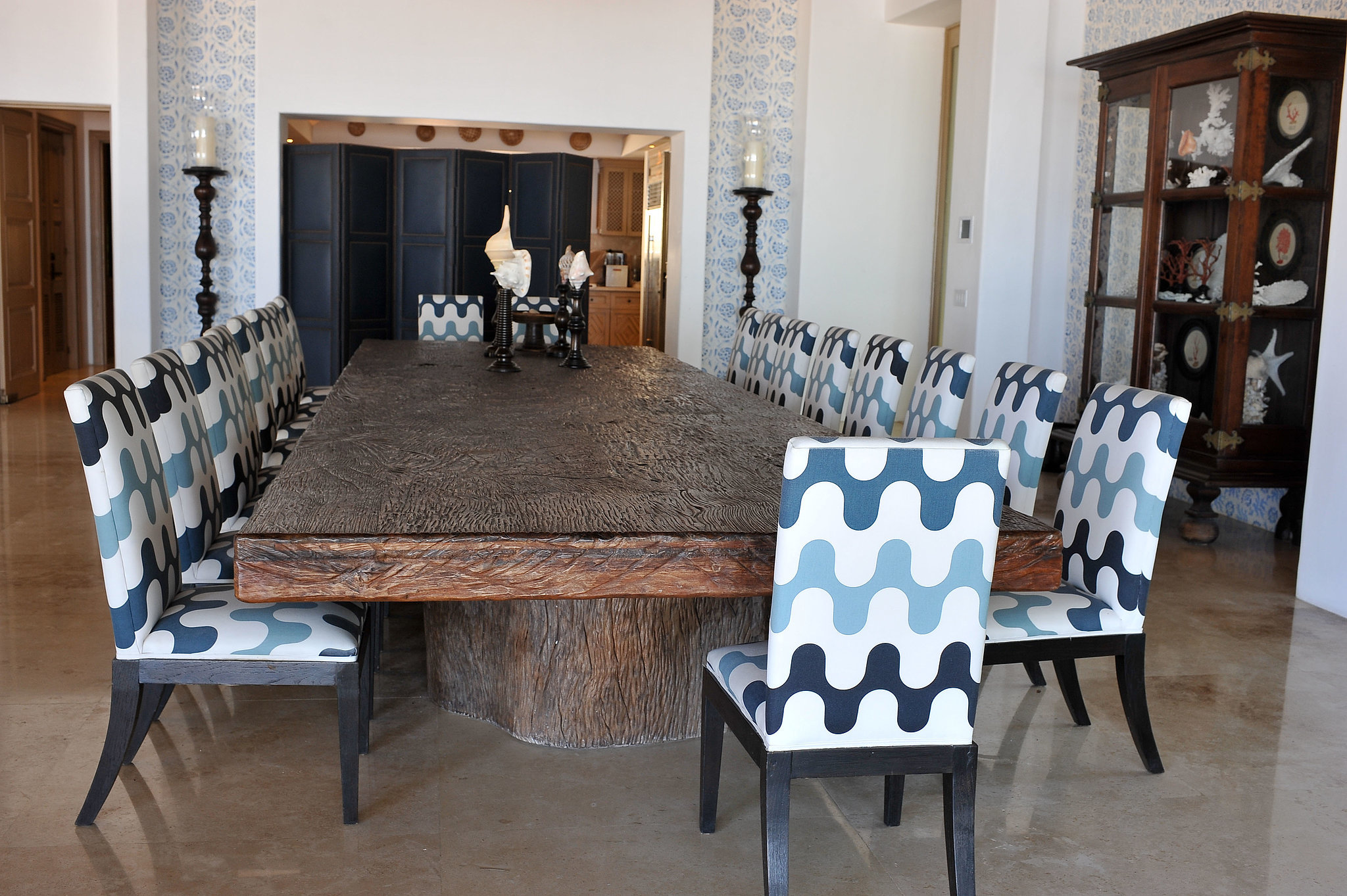Fit for entertaining, the dining room has more than enough room for guests.