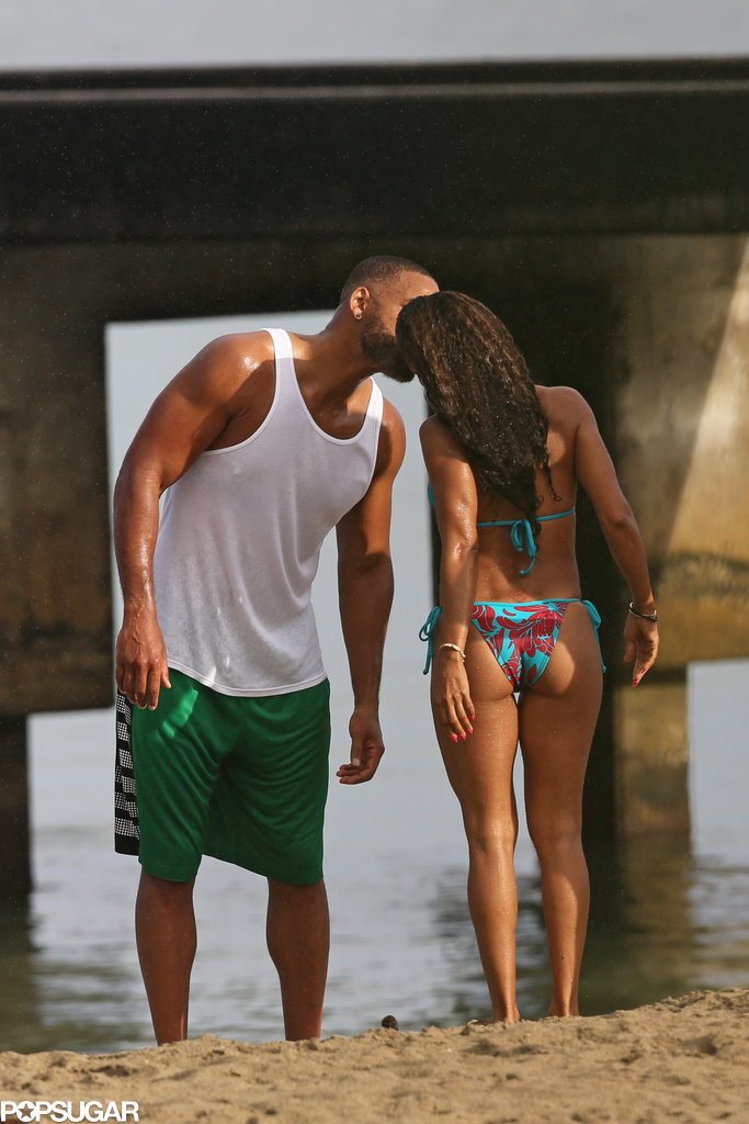 Will and Jada Pinkett Smith shared a loving kiss on the beach in Hawaii in June 2014.