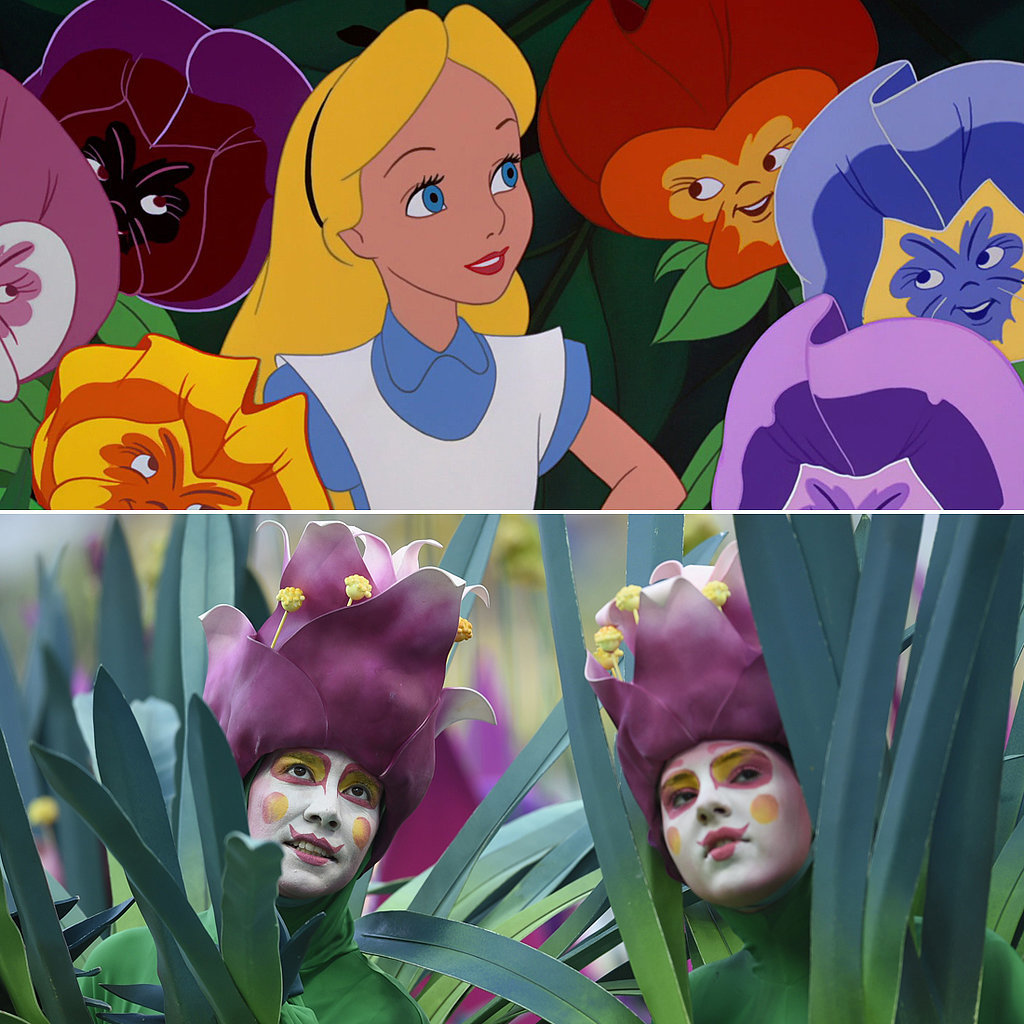 The dancers dressed as flowers look an awful lot like the Alice in Wonderland flowers. Source: Disney, Getty / DIMITAR DILKOFF