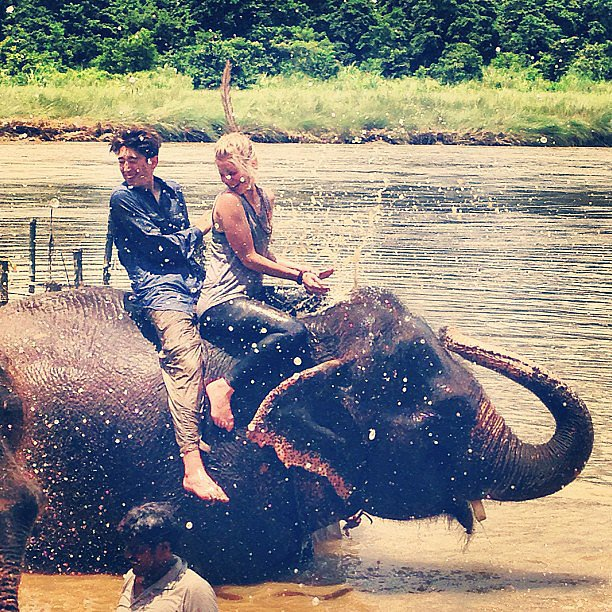 Take an Elephant Shower in Nepal