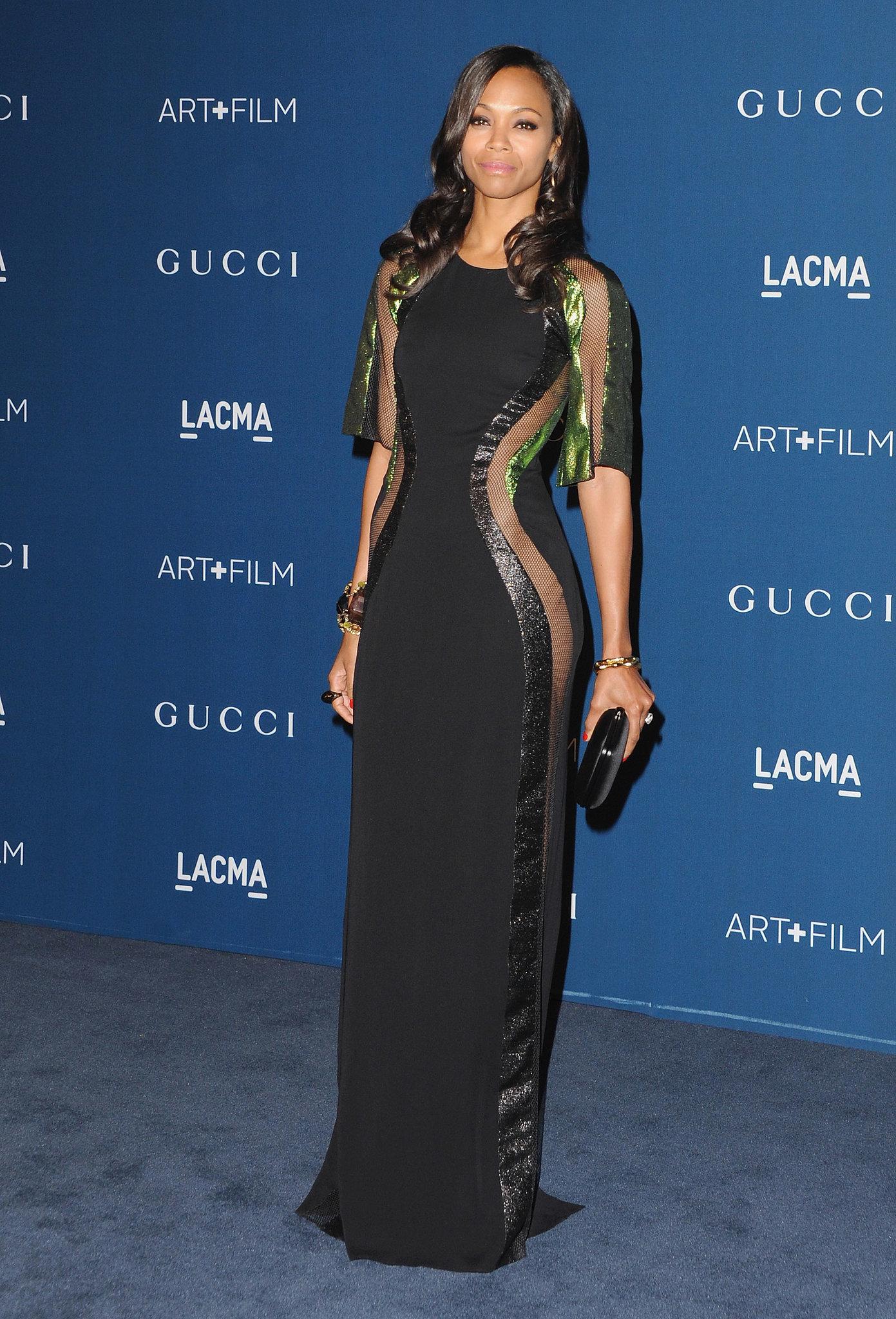 Zoe Saldana at the LACMA Film Gala
