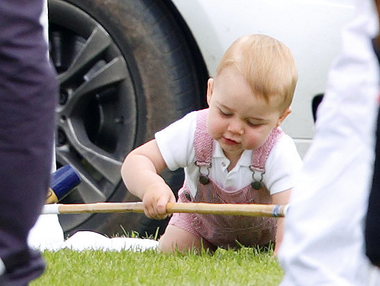 Prince George Crawls at His Dad's Polo Match on Father's Day