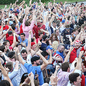 US Fans Celebrate First World Cup Win | Pictures