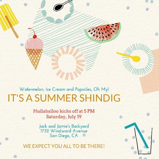 Summer Barbecue Invitations