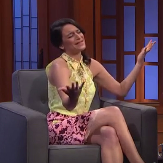 Jenny Slate on Late Night With Seth Meyers 2014