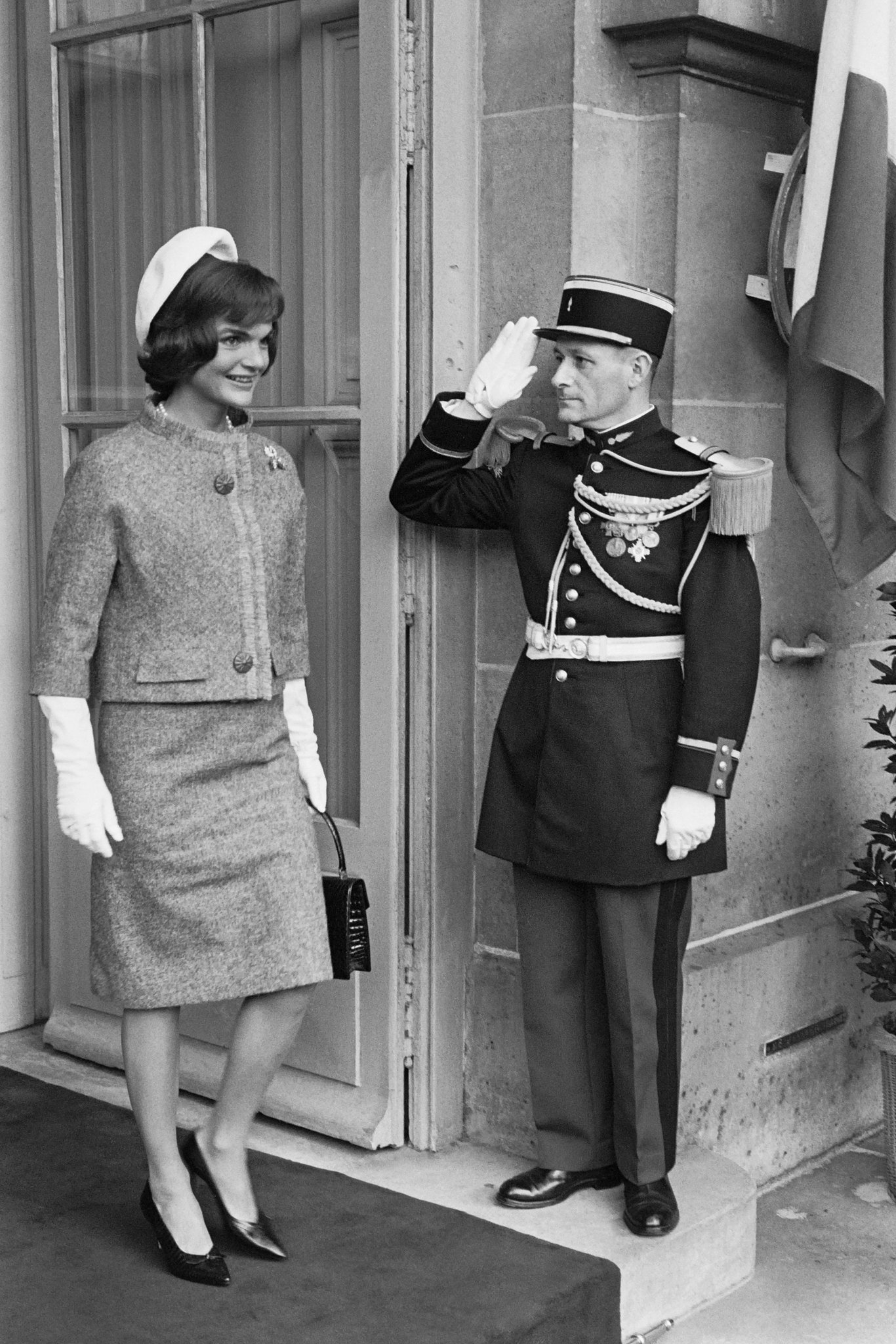 Jacqueline Kennedy at Quai d'Orsay in 1961