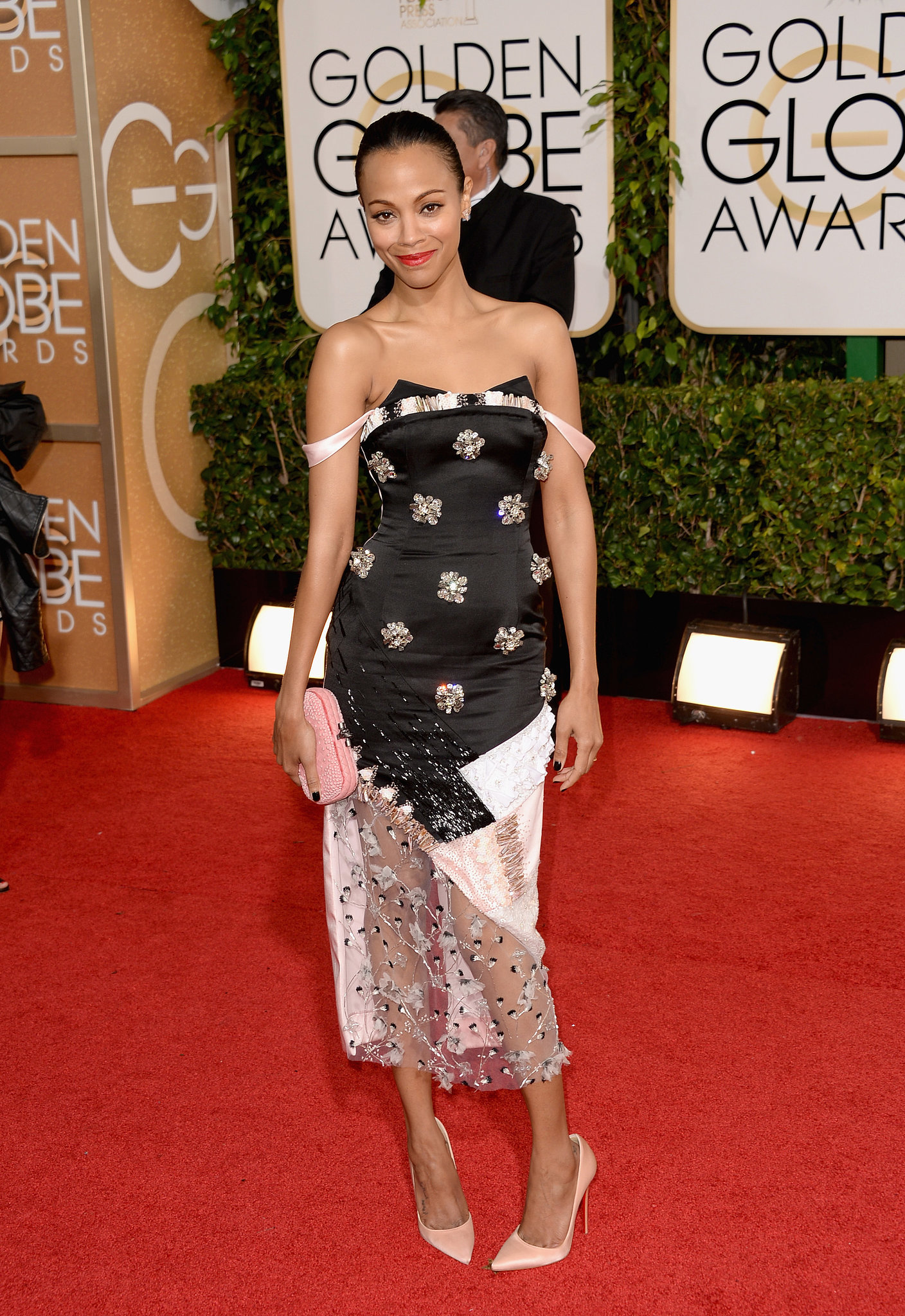 The 2014 Golden Globes brought out Zoe's playful side in a geometric Prabal Gurung number.