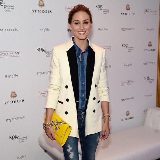 Where To Buy Olivia Palermo's White Tuxedo Jacket And Jeans