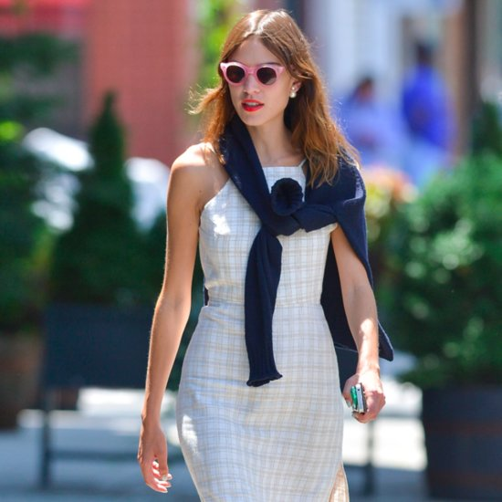 Alexa Chung's Halter-Dress Outfit