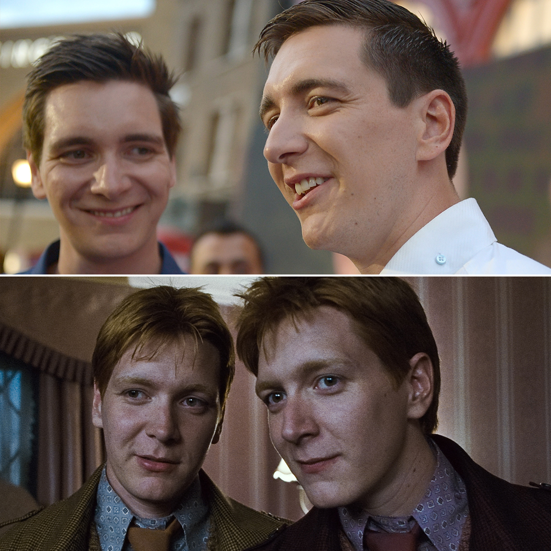 James Phelps (left), Fred Weasley