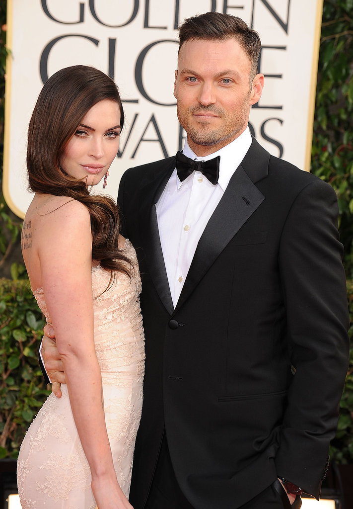 Brian and Megan struck a sultry pose on the Golden Globes red carpet in January 2013.