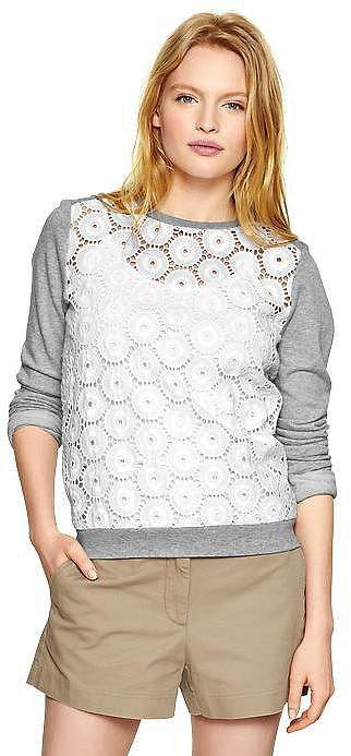 Gap Eyelet Sweatshirt