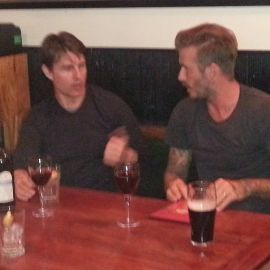 David Beckham and Tom Cruise in a London Pub