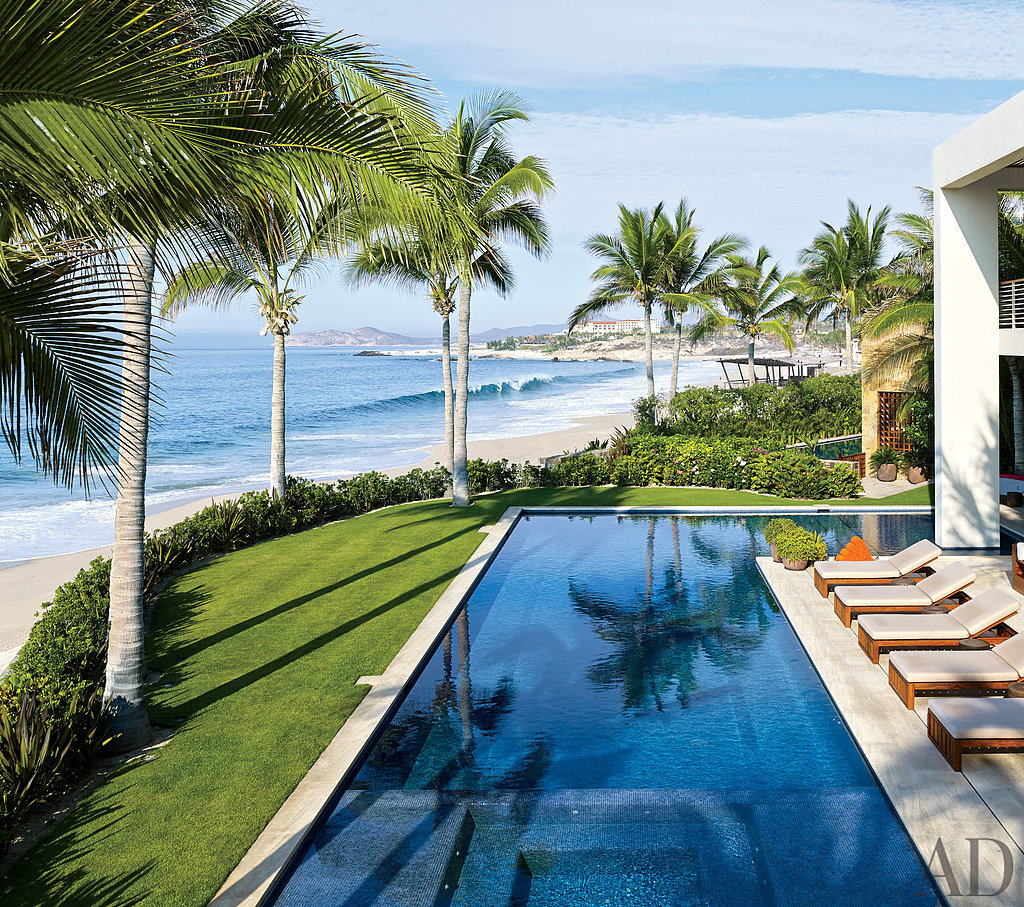 George Clooney and Cindy Crawford have endless views of the ocean from their shared compound in Los Cabos, Mexico. Source: Architectural Digest