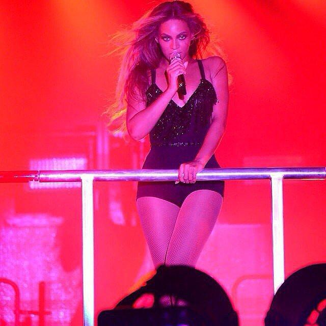 Beyoncé in a Black One-Piece
