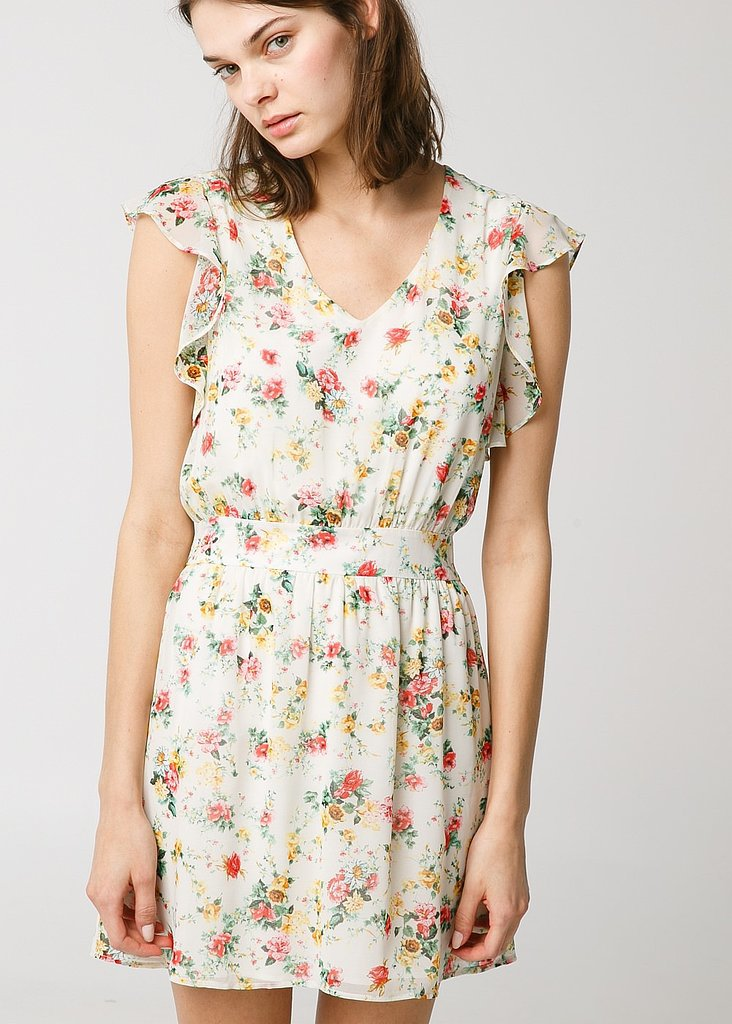 Mango Floral Chiffon Dress ($35, originally $60)