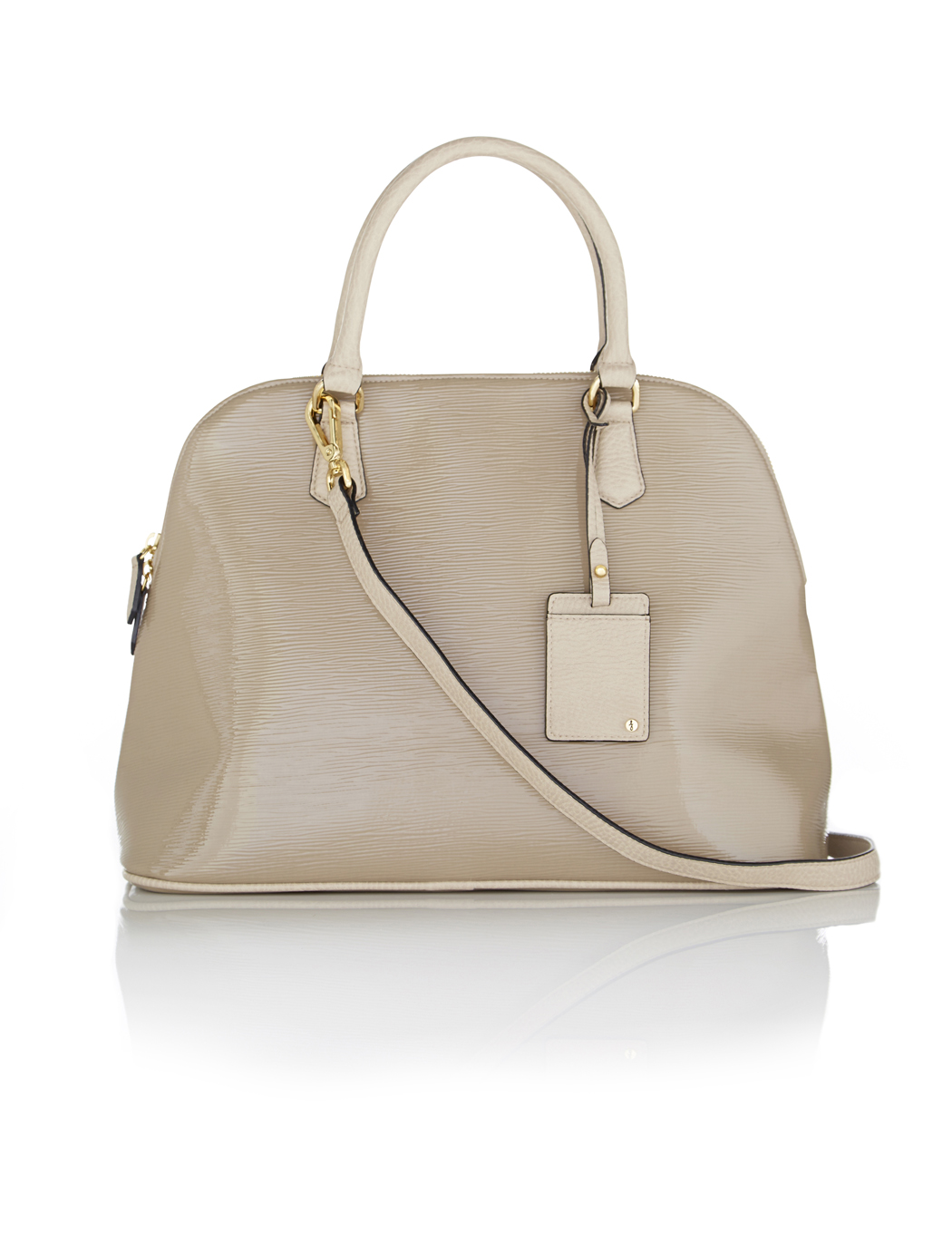 The Limited Patent Dome Satchel Bag