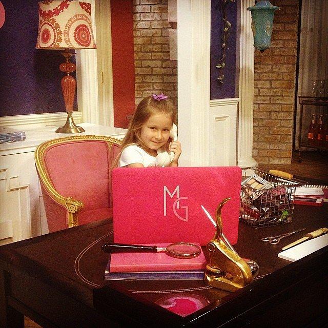 Stella McDermott hijacked the set of her mom Tori Spelling's new show. Source: Instagram user torispelling