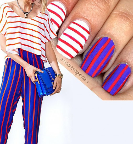 DIY This Patriotic Rebecca Minkoff-Print-Inspired Nail Art