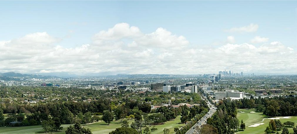 Each residence has views of the Los Angeles Country Club, Bel Air, and the Hollywood Hills. Source: Beverly West