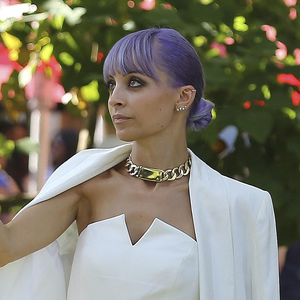 Nicole Richie Blue Hair - Purple Dye, Pastel Trend
