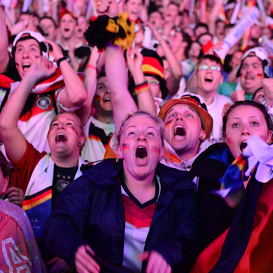 Germany Fans Watching the World Cup Game Against Brazil 2014