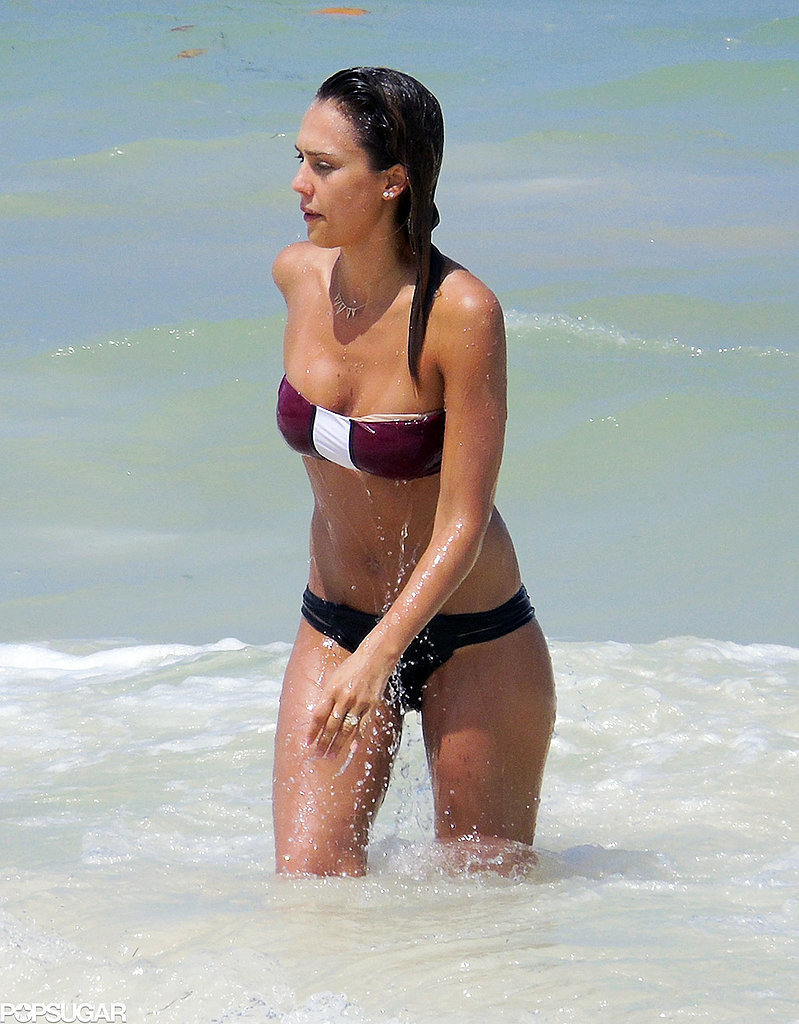 Jessica Alba showed off her bikini body in Mexico on Thursday.