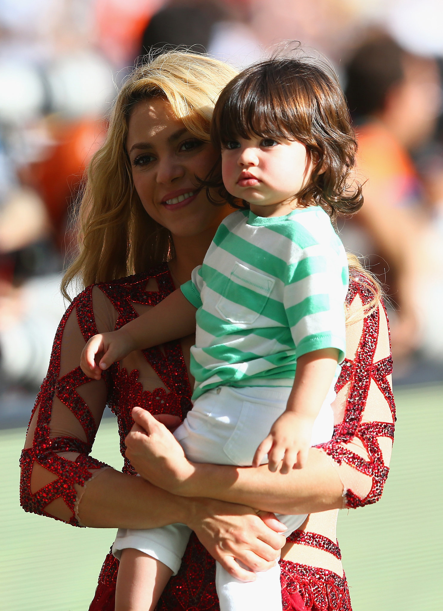 Shakira and her son shared a sweet moment on the field.