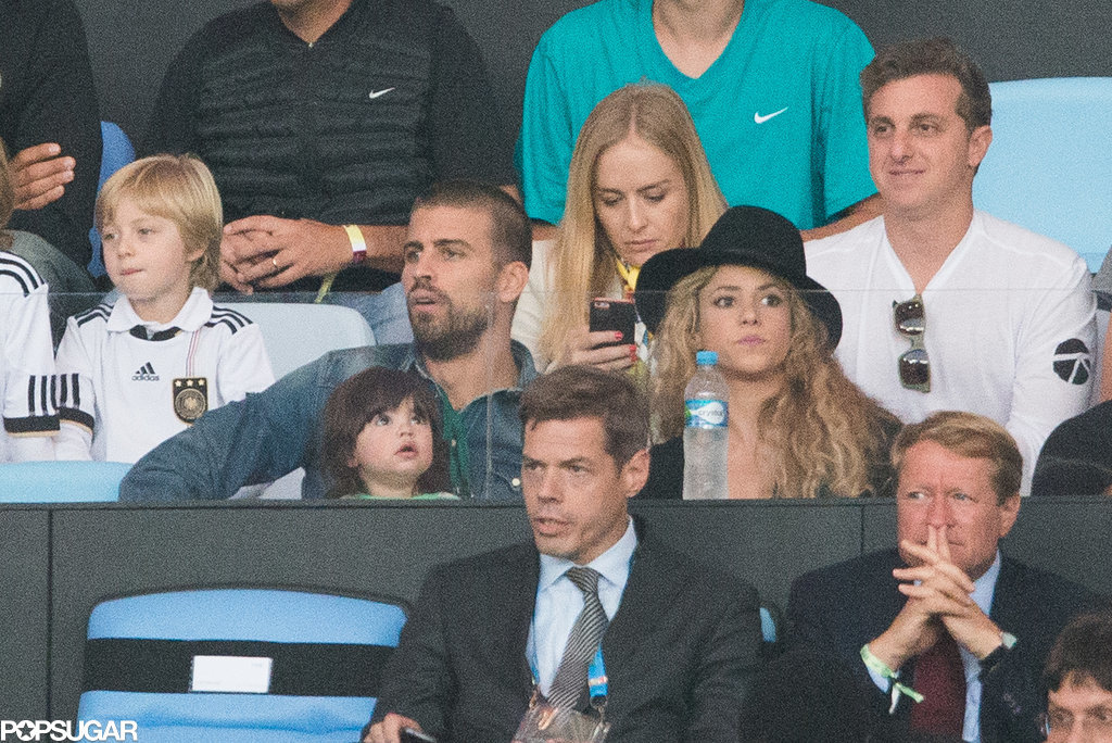 Shakira and Gerard hung out in the stands.