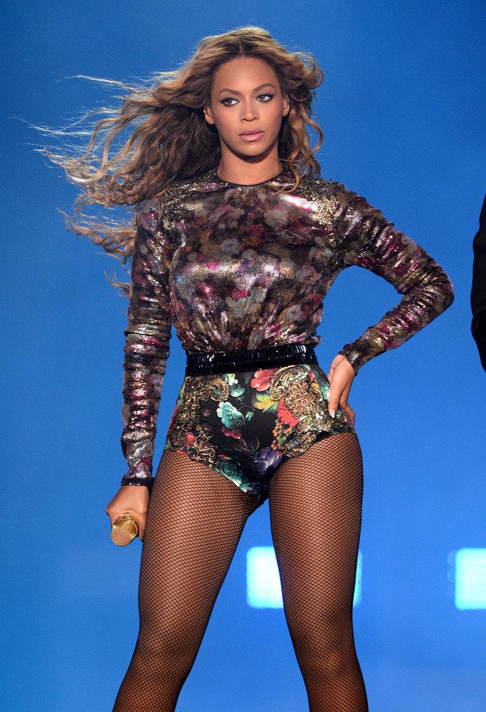 Beyoncé in a Floral Leotard