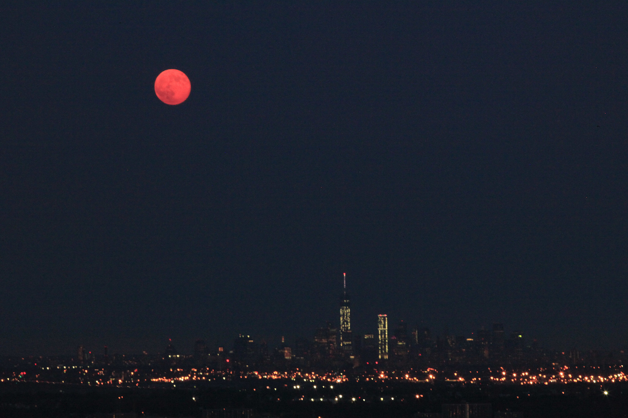 The Summer's first supermoon rises over New York City on July 12.