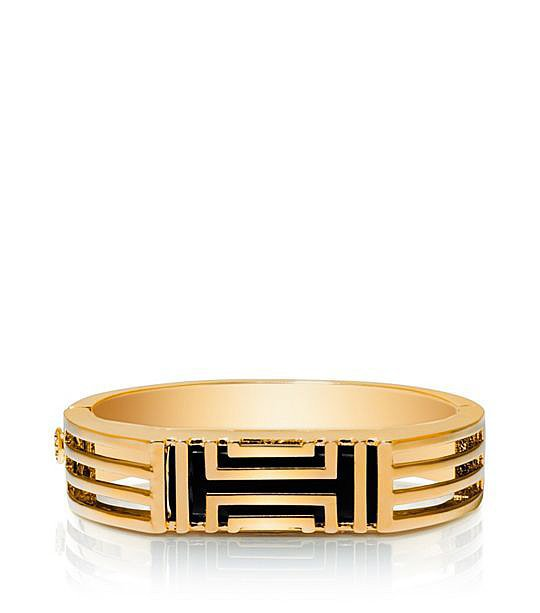 Tory Burch For Fitbit Metal Hinged Bracelet in Gold ($195)