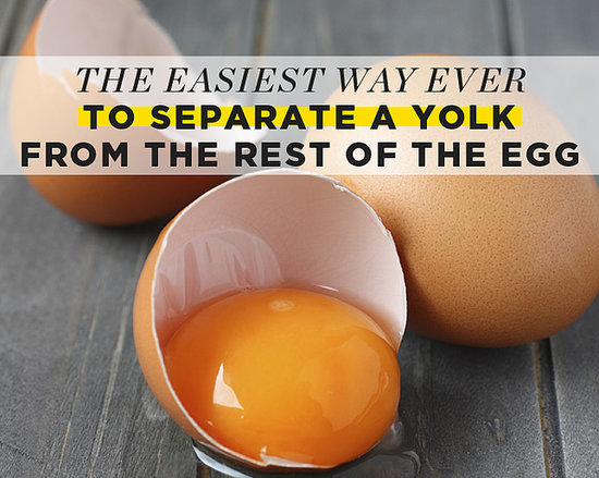 The Easiest Way EVER to Separate a Yolk From the Rest of the Egg