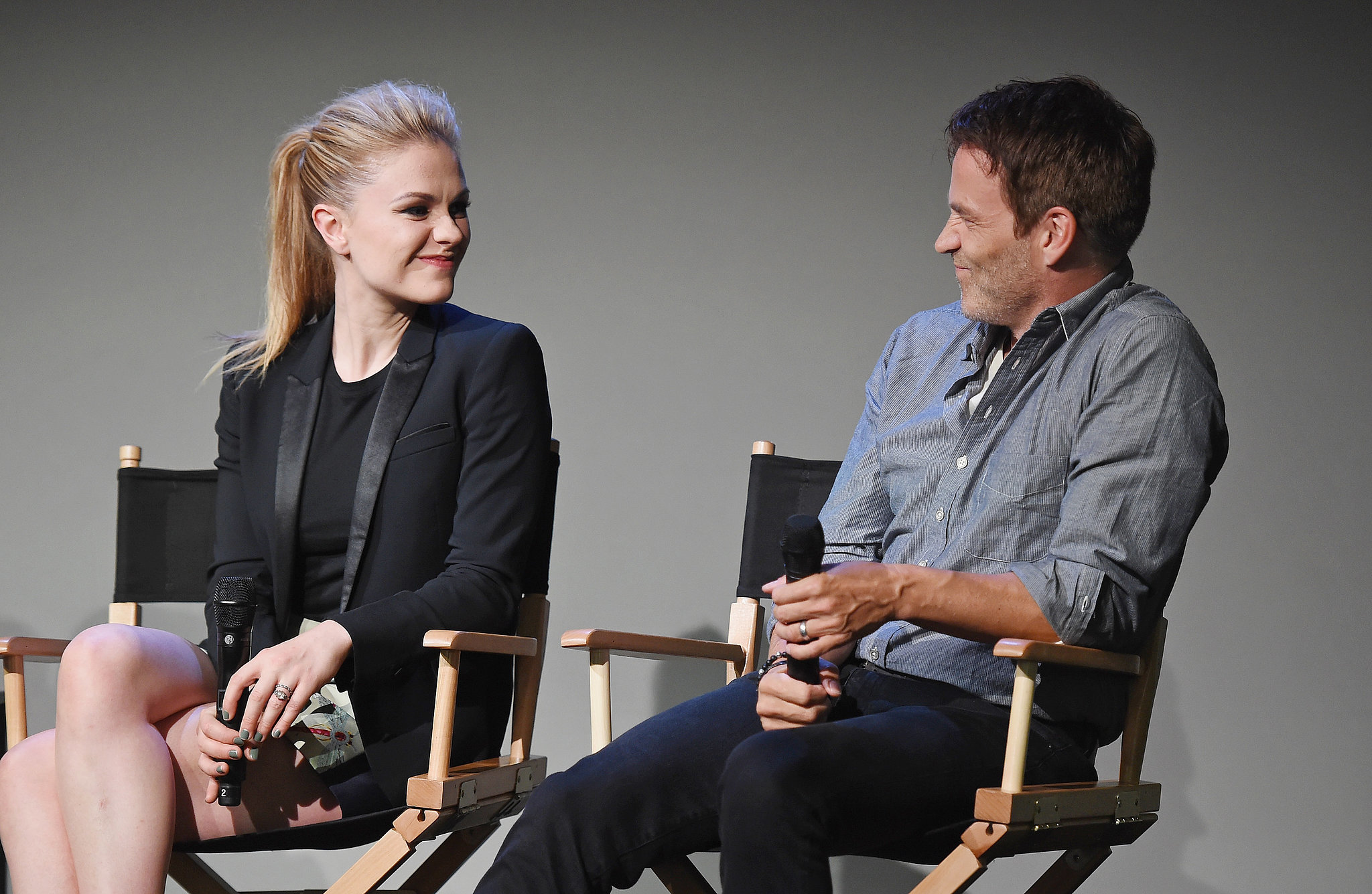 Anna Paquin and Stephen Moyer shared a sweet moment at an Apple Store Q&A on Tuesday in NYC.