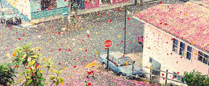 You Have to Watch This Shower of 8 Million Flower Petals