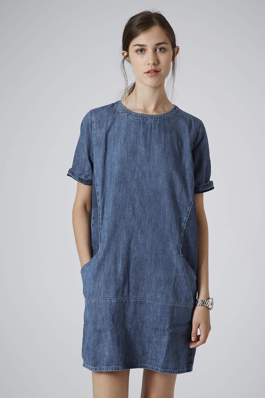 Topshop Moto Denim Pocket Dress