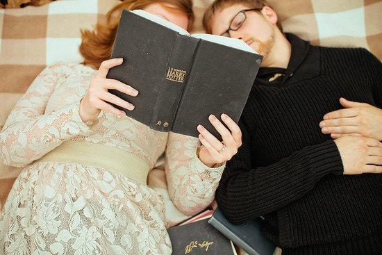Novel Idea: Bookish Engagement Pics