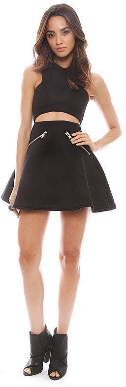 UNIF Black Cutout Dress