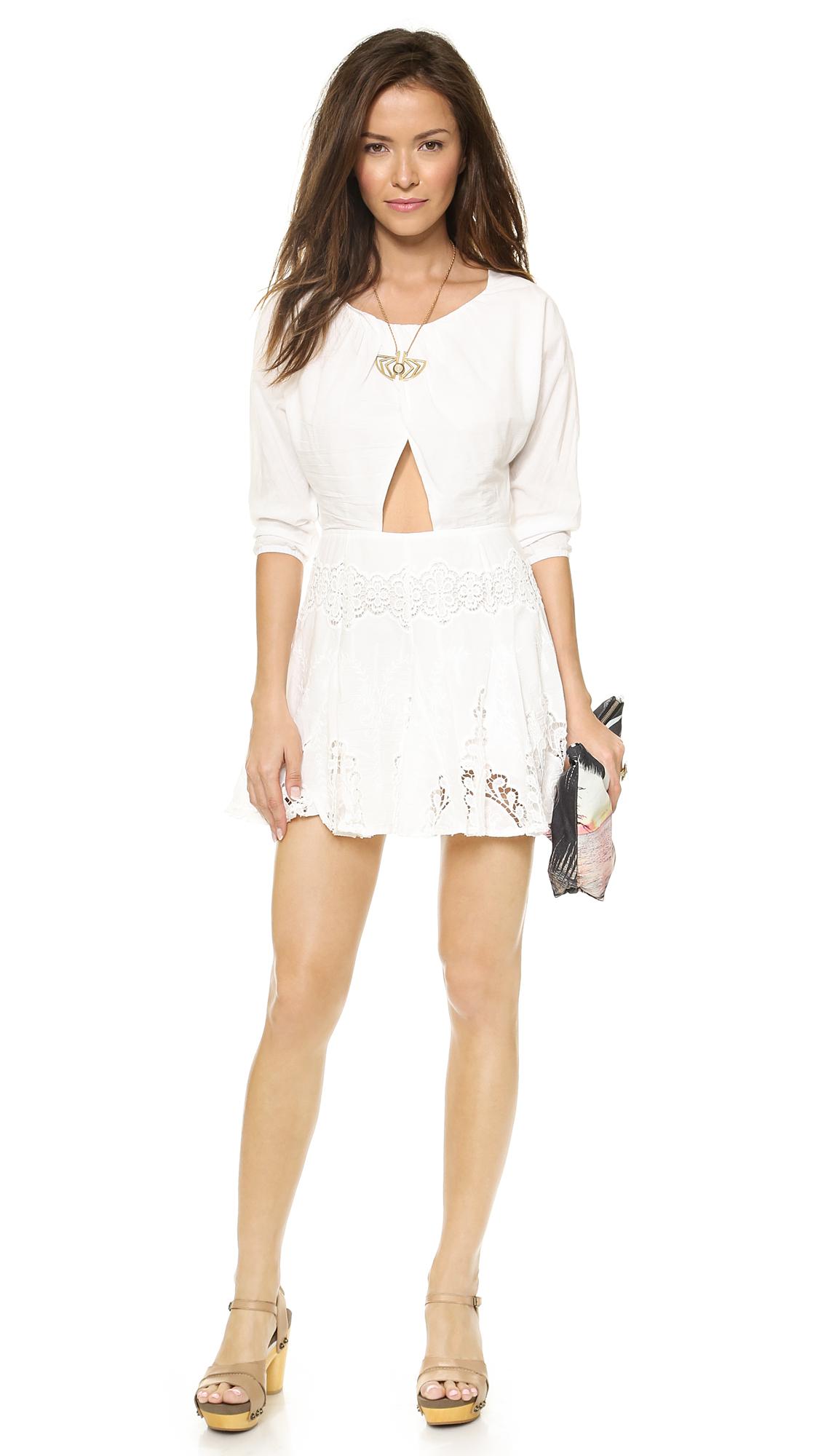 6 Shore Road White Cutout Dress