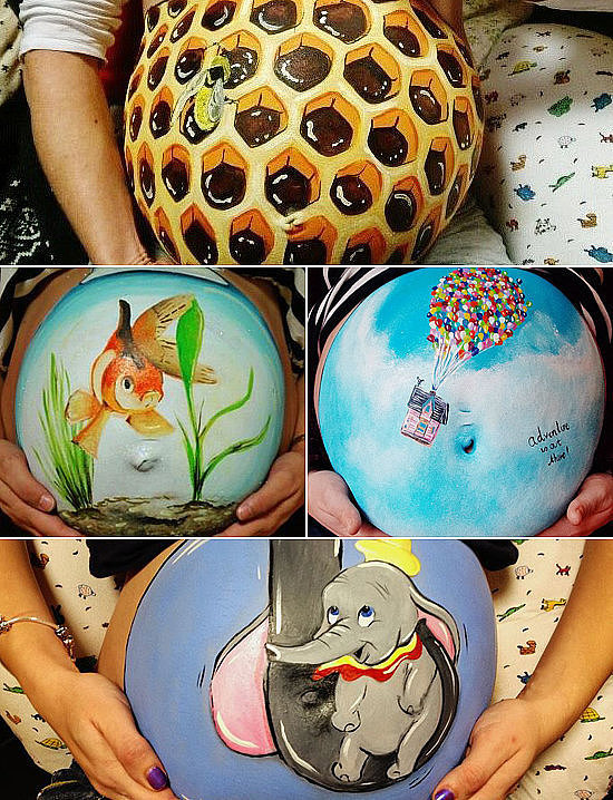 CREATE: Get creative with your burgeoning belly and paint it!