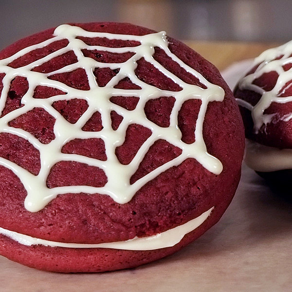 Spider-Man's Favorite Red Velvet Whoopie Pies