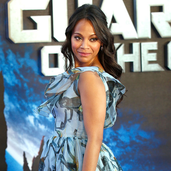 Zoe Saldana at the Guardians of the Galaxy London Premiere