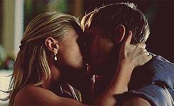 This all happens right outside Sookie's house, which makes it even hotter. Then they go inside.