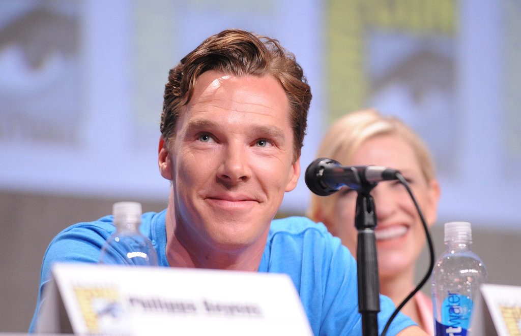 Benedict Cumberbatch's big eyes were on display at The Hobbit: The Battle of the Five Armies panel on Saturday. Meanwhile, Cate Blanchett continued laughing up a storm.