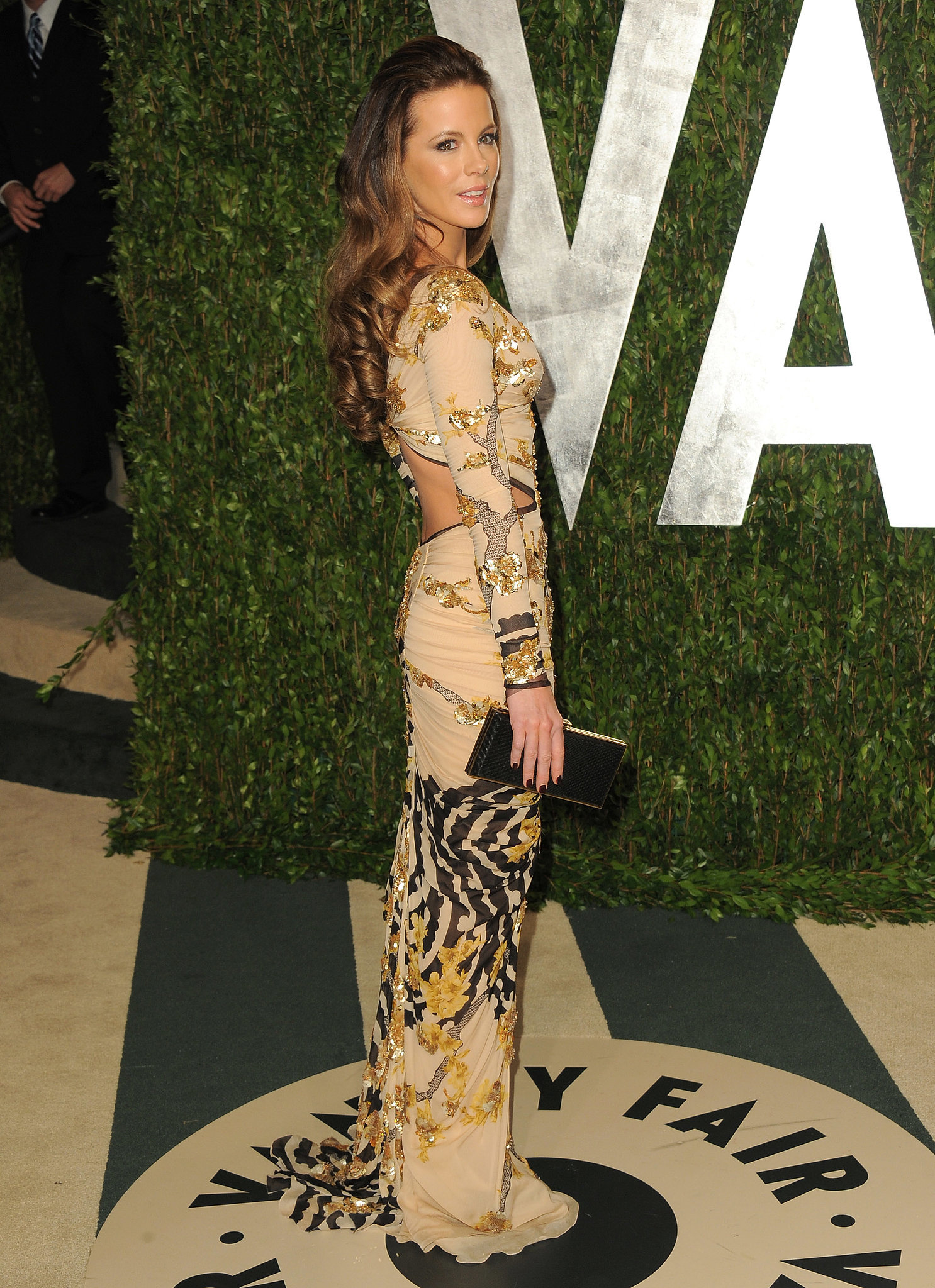 In February, Kate Beckinsale showed some skin in a cutout dress for the  2012 Vanity Fair Oscar party.