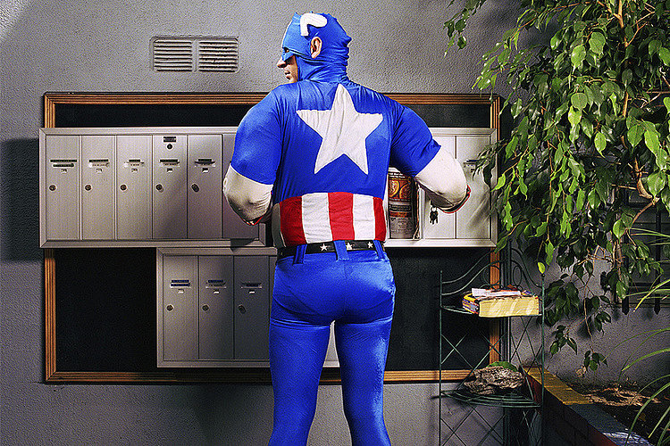 """""""Captain America Checking Mail,"""" Gregg Segal"""