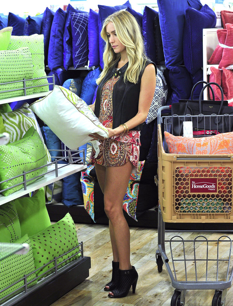 Kristin Cavallari went shopping at HomeGoods in LA on Thursday. Source: Sophie Fritz