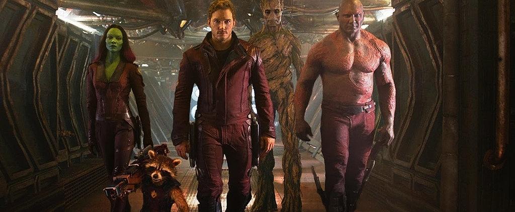 "Chris Pratt and Zoe Saldana Talk Starring in the ""Funniest and Sweetest"" Marvel Film Yet"